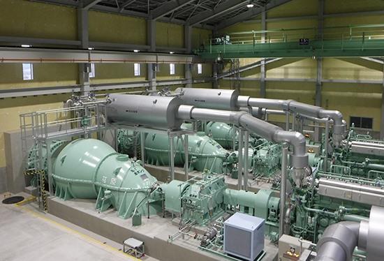 Наши партнеры EBARA установили 4 дренажных насоса на Цугурской дренажной насосной станции в Японии