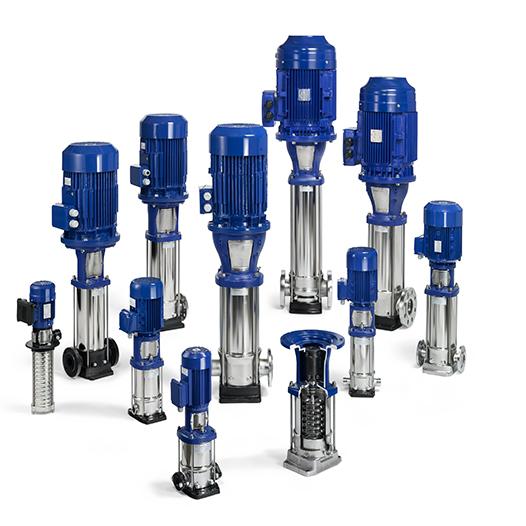 вертикальные многоступенчатые насосы из нержавеющей стали 304 и 316 (DP-Pumps, Голландия)