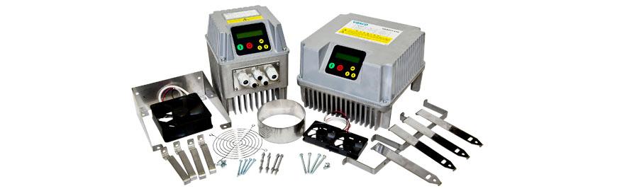 Обновленный модельный ряд частотных преобразователей VASCO. Частотники и монтажные комплекты.