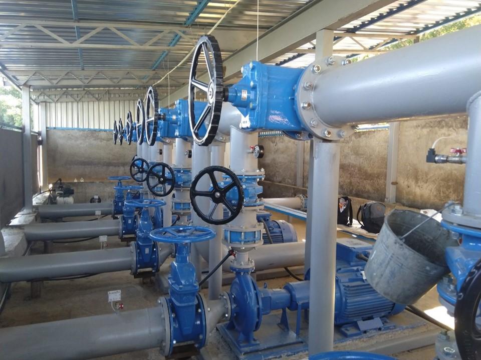 Консольные Насосы Ebara серии GS для полива полей с забором воды из реки. Проект IWT 2019.