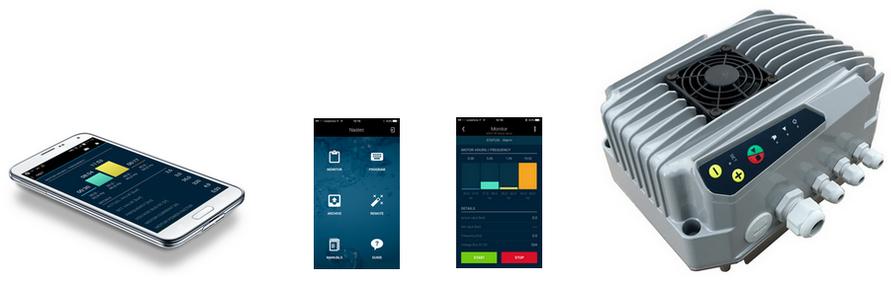 Программное обеспечение для планшетов и мобильных для удаленного управления частотным преобразователем MIDA, мониторинг частотника, справка и прочее.