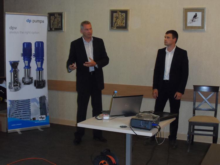 Представитель голландского насосного завода DP-Pumps на семинаре в Одессе