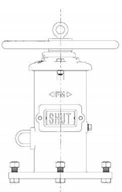 Размеры настенного индикатора положения клиновой задвижки