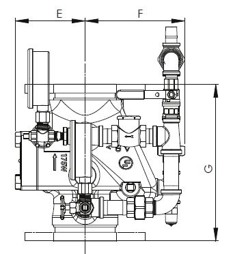 Рис. 1. Схема размеров водосигнального клапана