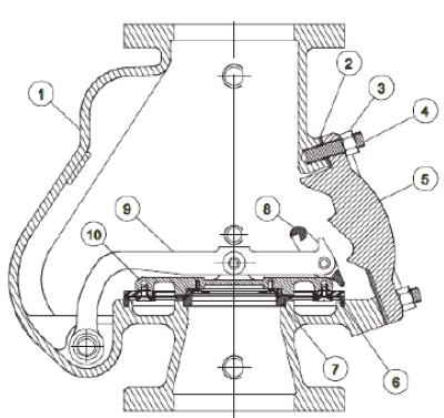 Рис. 1. Схема запчастей воздушного сигнального клапана