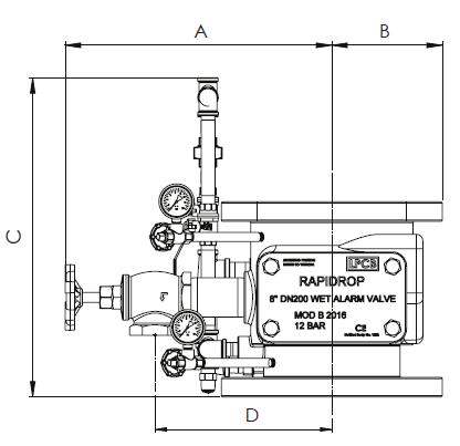 Схема 1 водосигнального клапана 8''