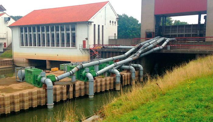 насосная станция большой производительности для быстрого реагирования в случаях повышения уровня воды
