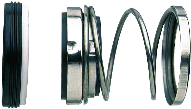 Tорцевое уплотнение центробежного насоса с одной пружиной для валов небольших диаметров
