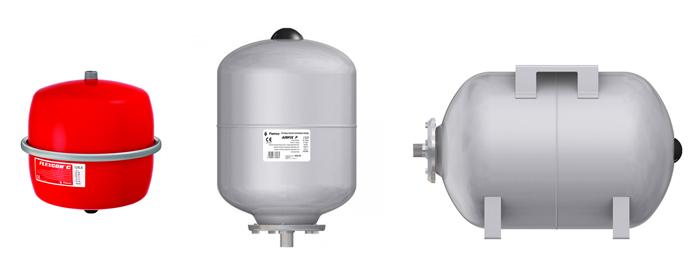 Мембранный бак для насосных станций водоснабжения и повышения давления на примере баков Flamco.