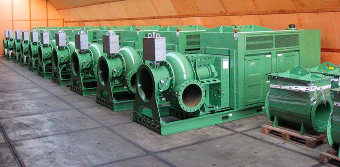 Резервный склад насосов с дизельным приводом всегда в состоянии готовности для национальных и международных чрезвычайных ситуаций