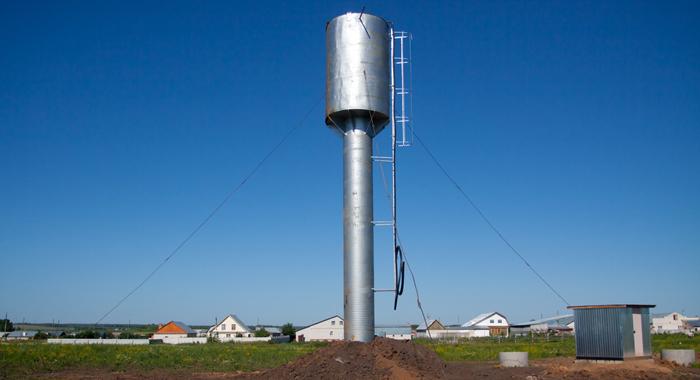 - Унифицированные водонапорные башни для регулирования неравномерности водопотребления, хранения резервных и противопожарных запасов воды в системах сельскохозяйственного водоснабжения и водоснабжения небольших предприятий и жилых застроек.