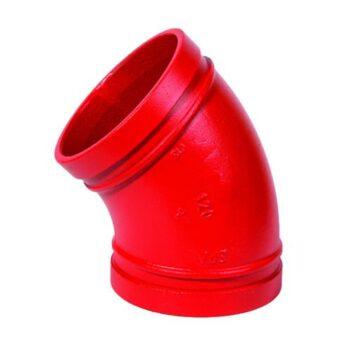 Грувлочное колено 45°, модель 120