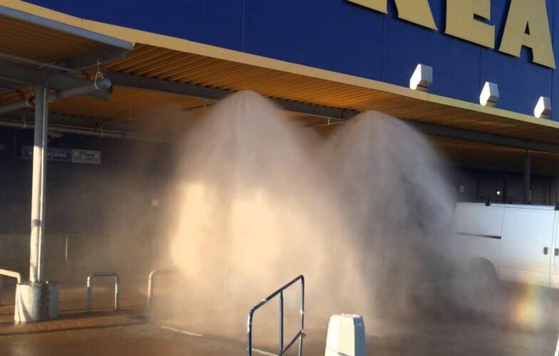 система пожаротушения тонкораспыленной водой на примере IKEA