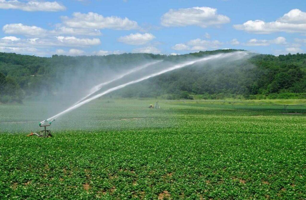 орошение полей промышленными насосами для полива