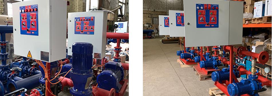 Фото с производства насосных станций пожаротушения Fire-Set