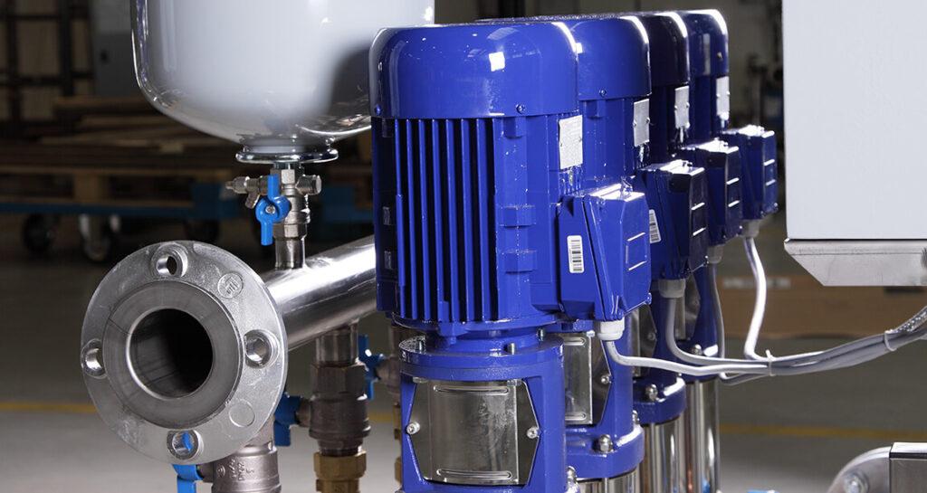 насосы повышения давления воды промышленные в составе станции